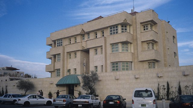 Israeli embassy in Amman, Jordan (Photo: David Rubinger)