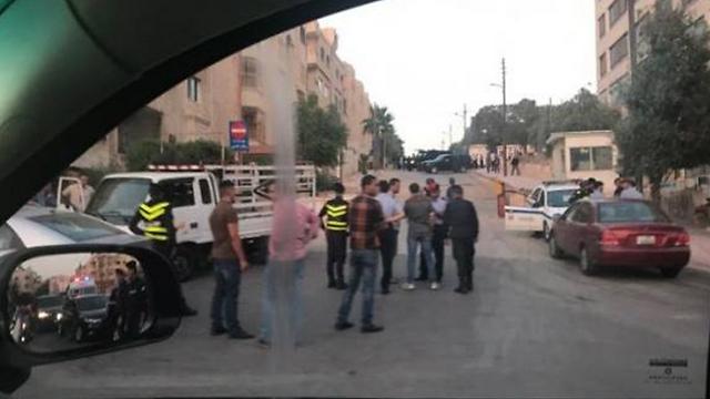 סמוך לשגרירות ישראל בירדן, אמש ()