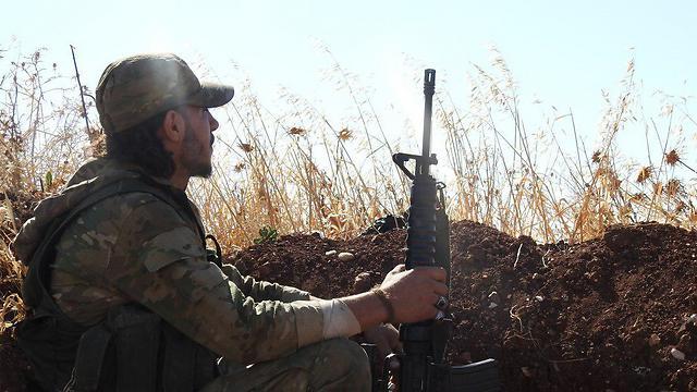 Jihadist militant in Idlib