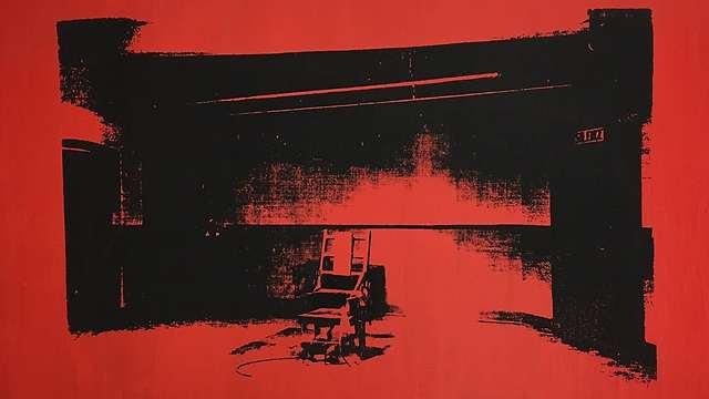 """ההדפס הנשכח - """"כיסא חשמלי קטן"""", אנדי וורהול (באידבות אליס קופר) (באידבות אליס קופר)"""