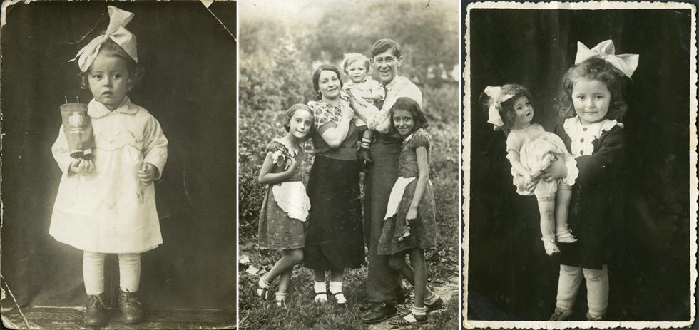 """בילדותה ועם בני משפחתה. """"אבא שלי היה צלם ולכן יש לי כל כך הרבה תמונות. זה מאוד לא אופייני לניצולי שואה"""" (צילום: קריסטינה כרמי - אלבום משפחתי)"""