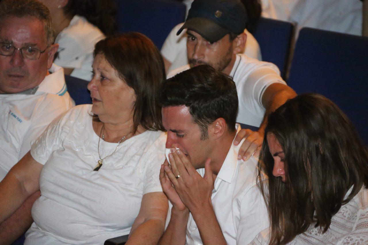 בן הזוג ינאי פרישר בטקס  (צילום: מוטי קמחי) (צילום: מוטי קמחי)