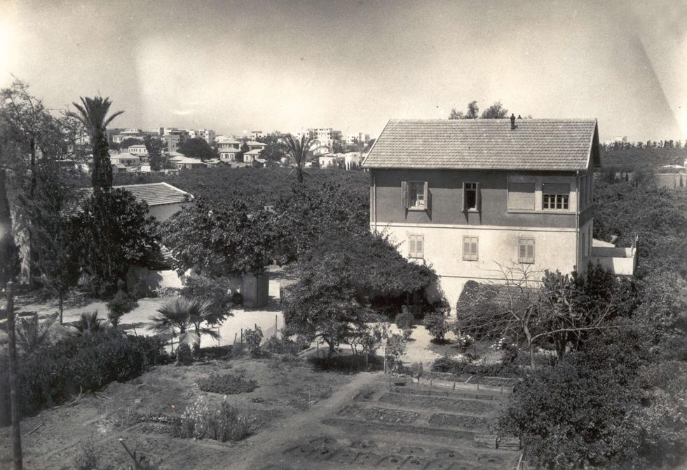 משפחת ליפמן הייתה אחת הענפות והדומיננטיות בשרונה, ומתחם החווה שלה כיכב בצילומים ובאיורים של המושבה. ארבעה דורות ראתה המשפחה, ובמשך השנים נבנו בתים נוספים לדורות ההמשך בחלק המזרחי של החווה (צילום: מתוך ארכיון הטמפלרים)