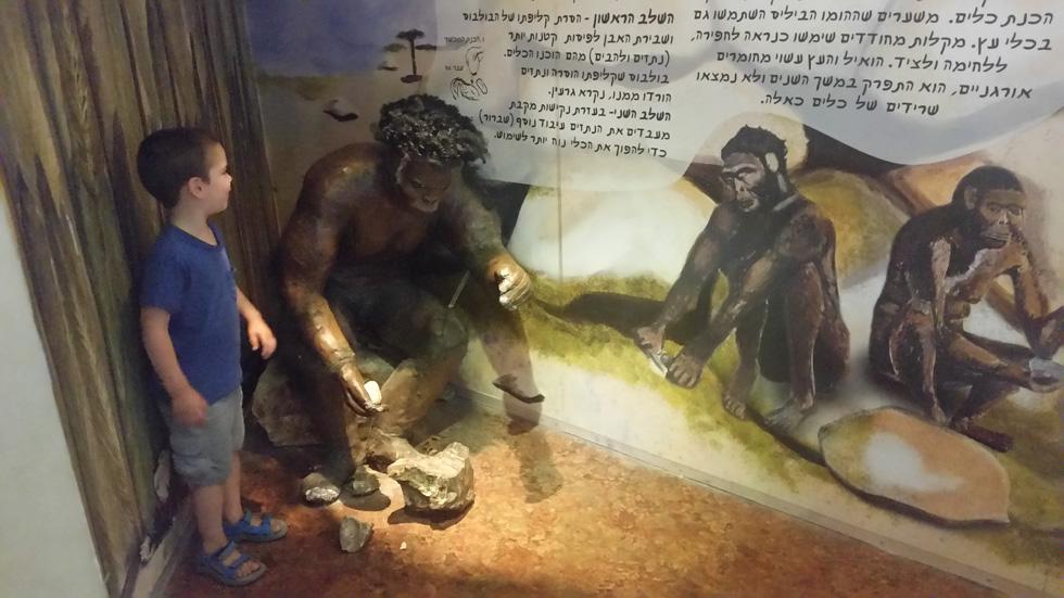 מערה של האדם הקדמון מחכה לכם במוזיאון האדם והחי ברמת גן