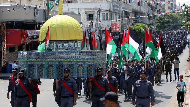 Шествие ХАМАСа в Газе. Фото: АР