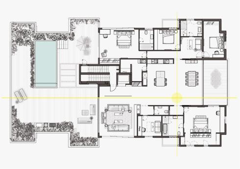 תוכנית הפנטהאוז (תכנית: אשרת עוזרי אדריכלים)