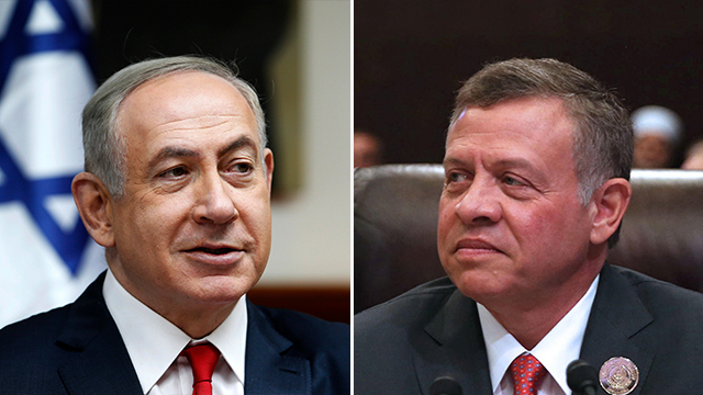 PM Netanyahu and King Abdullah II (Photo: AFP)