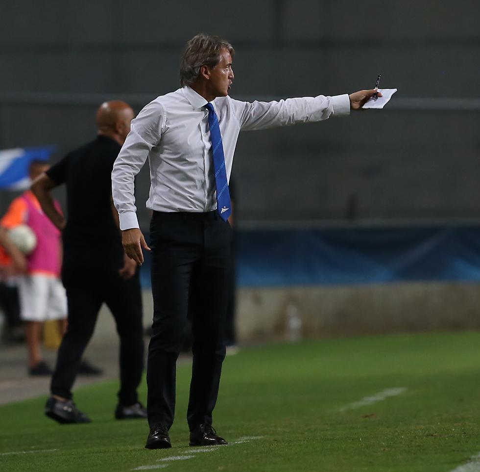 מאמן בעל שם עולמי. רוברטו מנצ'יני (צילום: אורן אהרוני) (צילום: אורן אהרוני)