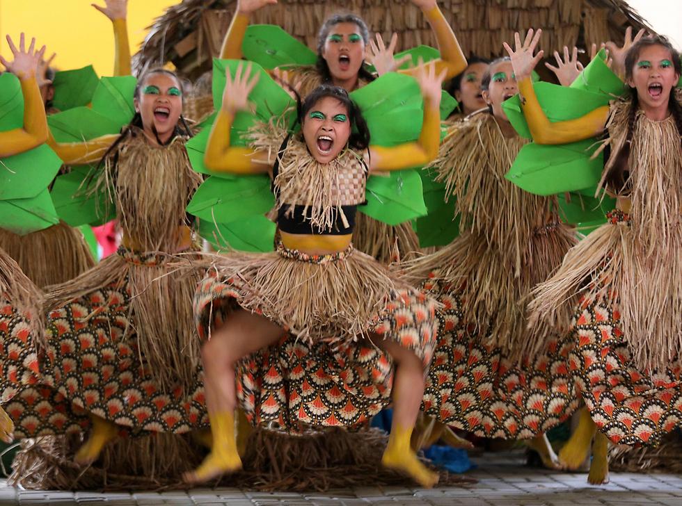 פסטיבל שושנת המים בלאס פינאס, הפיליפינים (צילום: EPA)