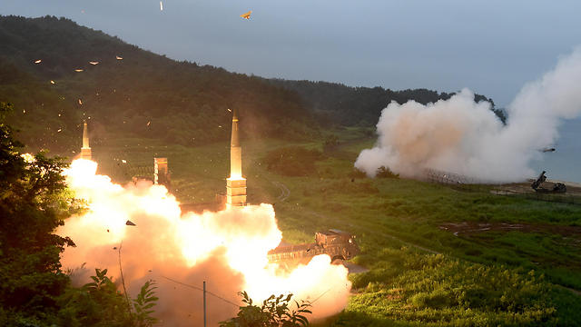 South Morea missile launch test in response to North Korea launch test (Photo: EPA)