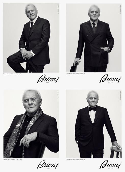 חליפות היוקרה של בריוני לגברים יושבות בול על השחקן בן ה-79 בעל תואר האצולה, סר אנתוני הופקינס (צילום: Gregory Harris)