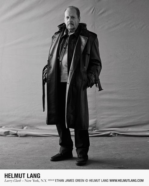 לארי קלארק בן ה-74 בהלמוט לאנג. הגיע לגיל שאפשר להתחיל (צילום: ETHAN JAMES GREEN)