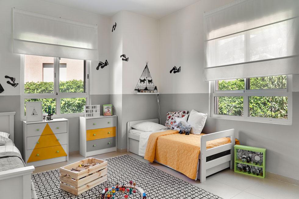 תכנון של חדר ילדים משותף הוא מהעיצובים המאתגרים ביותר (צילום: רותם רוזנאי, Studio GEFEN)