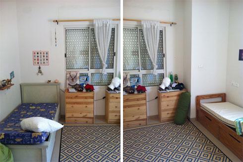 החדר לפני השיפוץ (צילום: הילה מגריל)