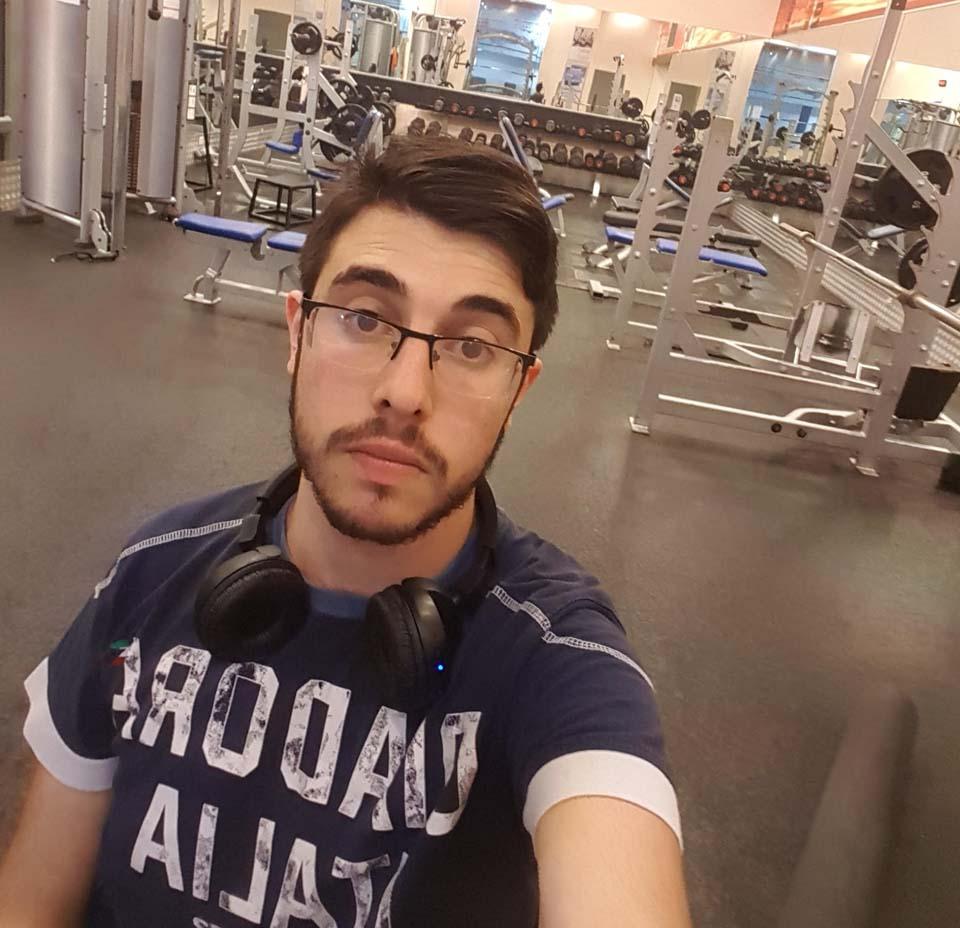 Ади Коган в спортзале после выписки