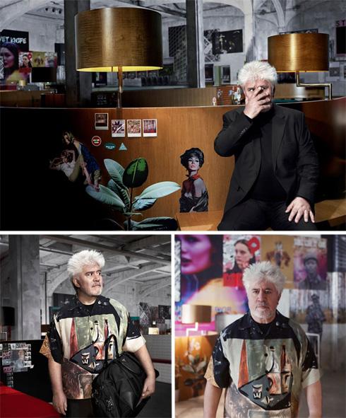 הקמפיין של פראדה. לא רק הבמאי הנודע פדרו אלמודובר, אלא גם הלוקיישן הנחשב - משרדי OMA של אדריכל העל ההולנדי רם קולהאוס (צילום: Willy Vanderperre)