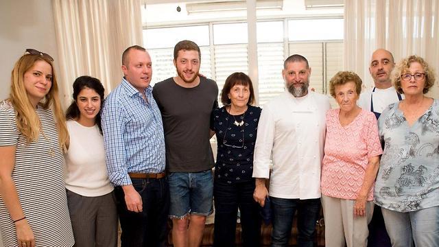 Granit with Samet's family (Photo: Hagit Frenkel)