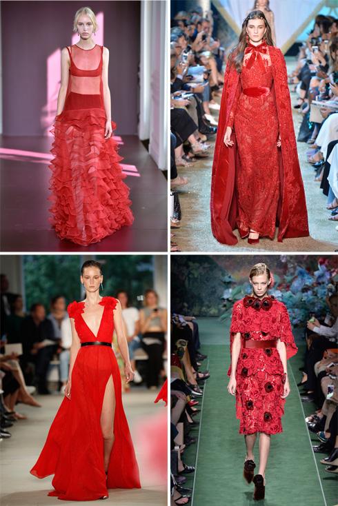 השמלות האדומות מככבות על המסלולים: בתצוגות של אלי סאאב, פנדי, פרבל גורונג ו-ולנטינו (צילום: Gettyimages)