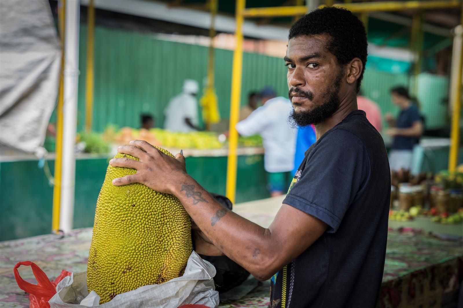 השוק המקומי באי מאהה (צילום: איתמר קוטלר) (צילום: איתמר קוטלר)