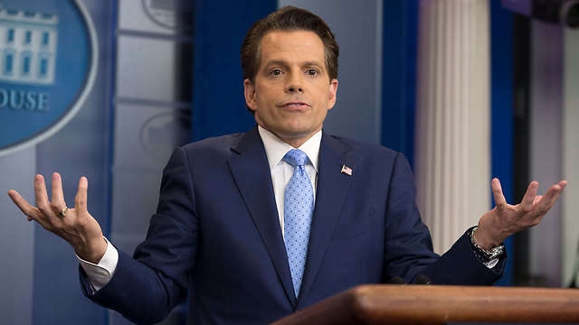 Scaramucci during his brief tenure as WH Communications Director (Photo: EPA)