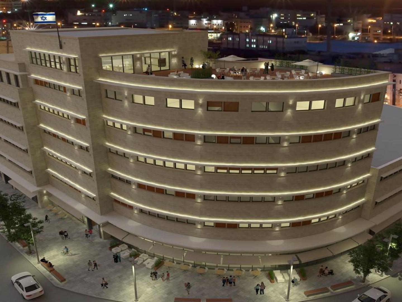 """המבנה ברחוב העצמאות 41 בחיפה (הדמיה: יח""""צ) (הדמיה: יח"""