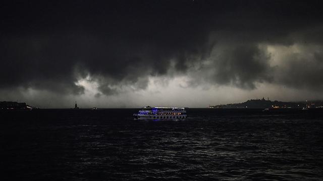 הסופה באיסטנבול (צילום: AFP) (צילום: AFP)