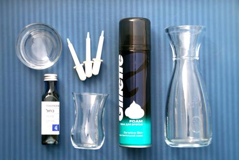 הכלים לניסוי (צילום: סיון קורן - מברשות)
