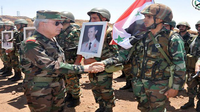 Syrian army chief visiting his forces near Quneitra