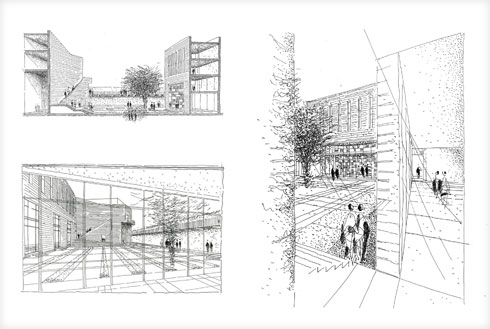 """האדריכלים חקרו את השימוש באבן בבנייה הירושלמית (שרטוט: משרד עדה כרמי מלמד אדריכלים בע""""מ)"""