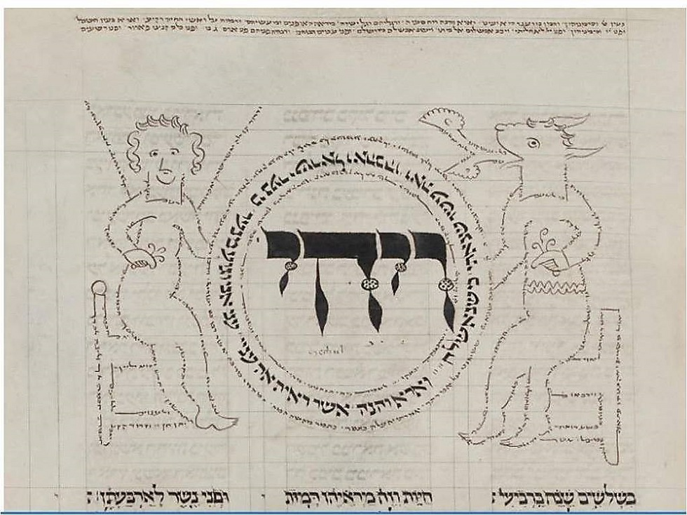 """תנ""""ך מהמאה ה-13, ספריית מדינת ברלין (באדיבות הספרייה הלאומית)"""