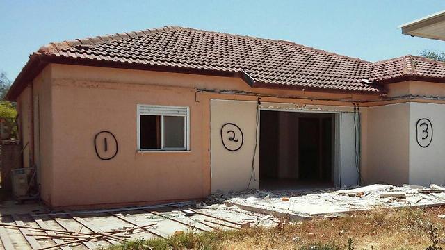 The Shalmon family's caravilla in Amatzia (photo courtesy of the family)