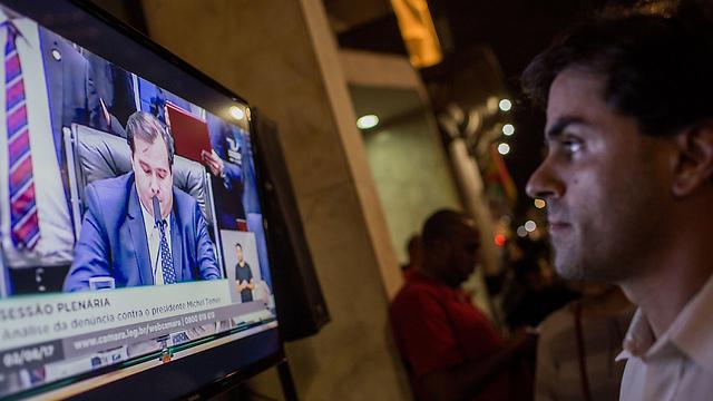 ההצבעה בקונגרס נגררה לשעות הערב ביוזמת האופוזיציה כדי שרוב הברזילאים יוכלו לצפות בה בטלוויזיה (צילום: gettyimages)