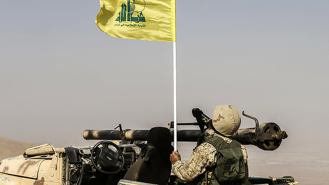 Hezbollah fighters on the border (Photo: AFP)