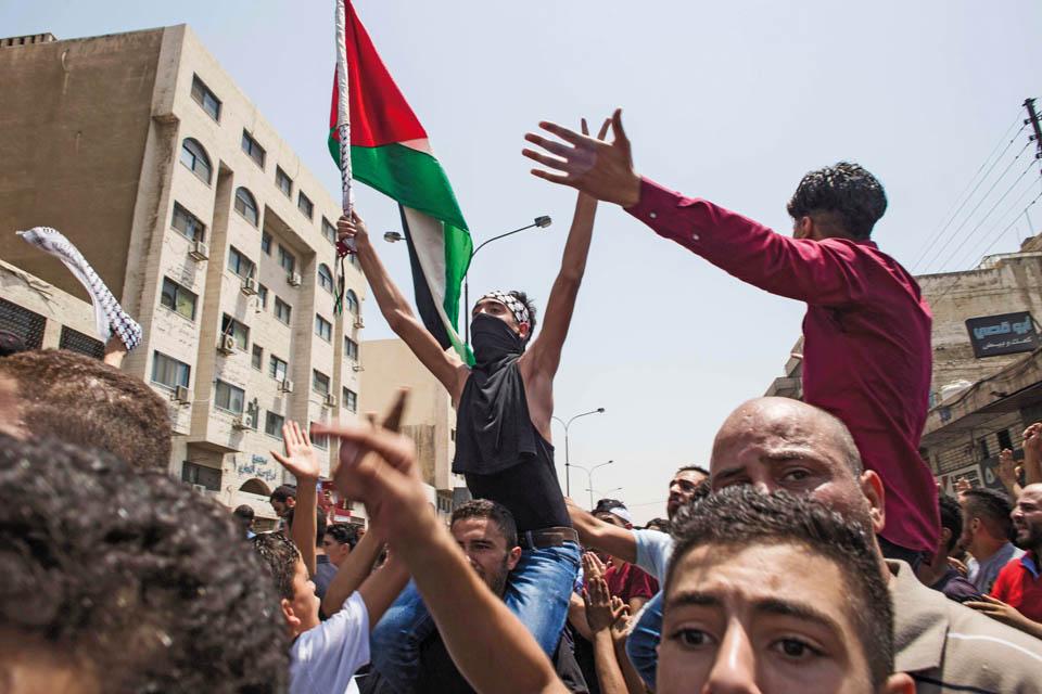 Антиизраильская демонстрация в столице Иордании. Фото: Lindsey Leger