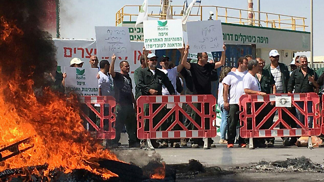 Haifa Chemical protest near Dimona