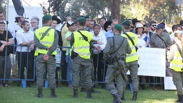 Haredim protest previous pride march (Photo: Motti Kimchi )