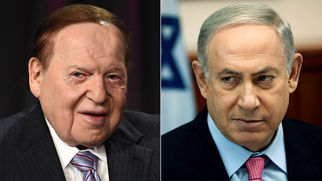Adelson (L) and Netanyahu (Photos: Reuters, AFP) (Photo: Reuters, AFP)