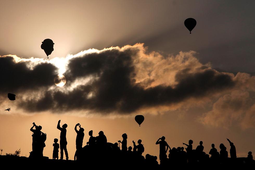 פסטיבל כדורים פורחים בעמק יזרעאל, ישראל (צילום: AFP)