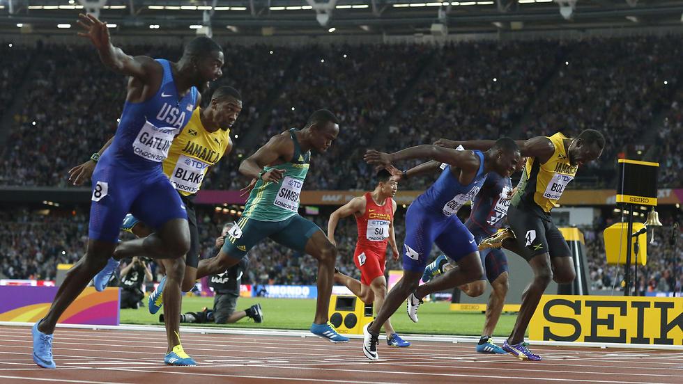 הפיניש בגמר בלונדון (צילום: AP) (צילום: AP)