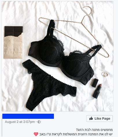 """""""הלבשה תחתונה - המתנה הזוגית המושלמת"""" (צילום: צילום מסך) (צילום: צילום מסך)"""