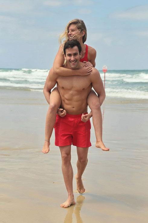 """""""להיות בת זוג של ספורטאי אולימפי זה מטורף"""". עם יונתן קופלב ( צילום: שוקה כהן)"""