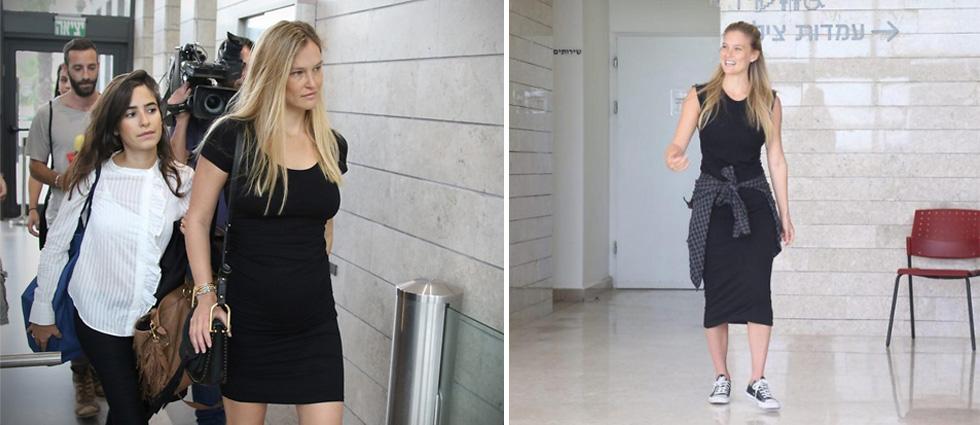 בר רפאלי. שמלה שחורה קטנה ומדגישת הריון, סניקרס פשוטות, איפור מינימלי וחיוך חף מפשע (צילום: מוטי קמחי, אבי מועלם)