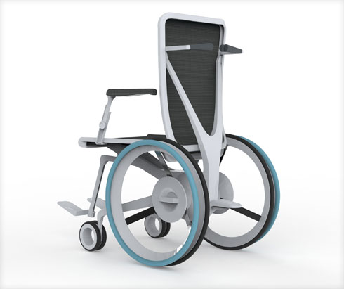 ההשראה העיצובית באה מתחום הכיסאות המשרדיים, שהוא מפותח יותר כי יש להם יותר ביקוש (הדמיה: ניסאן אסעד חאיק)
