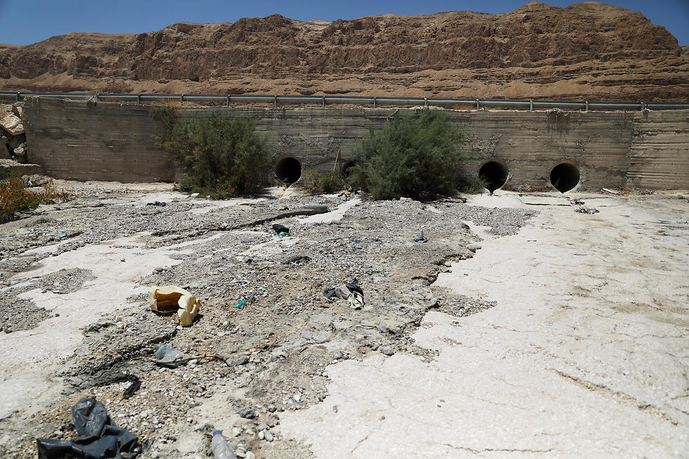Sewage is seen in the estuary of the Kidron Valley close to where it leads into the Dead Sea in the West Bank August 2, 2017 (Photo: Reuters)
