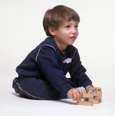 הרן בילדותו, עם הקוביות המשפחתיות