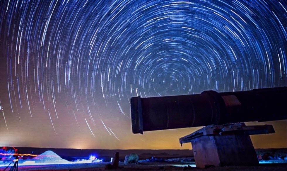 פעילות אסטרונומית לילית בירוחם (צילום: שחר כהן)