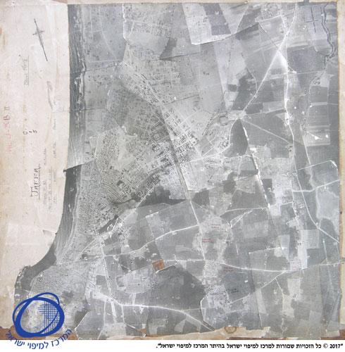 """צילום אווירי של תל אביב, 1924 (צילום: נלקח מספריית המפות ע""""ש מיכה גרונית בחוג לגיאוגרפיה וסביבת האדם, אוניברסיטת תל אביב)"""