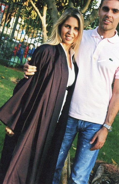 """עם בעלה, יניב אילוז. """"הוא העוגן המשמעותי בחיי"""" (צילום: אלבום משפחתי)"""
