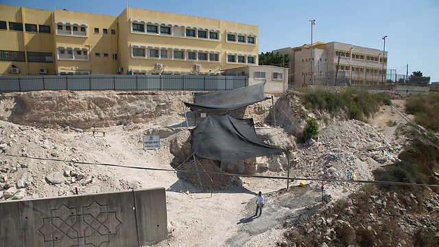 The dig site in Reineh (Photo: Samuel Magal/IAA)
