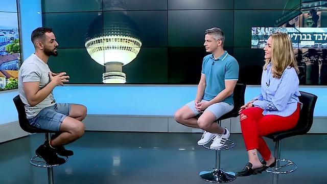 חזי בראיון לשירי הדר ועמית קוטלר באולפן ynet (צילום: אלי סגל)